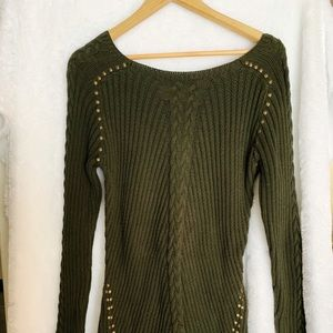 Philosophy Forrest Green Knit Sweater